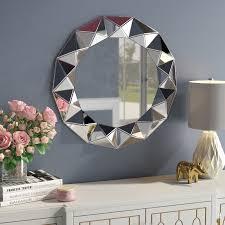 willa arlo interiors traditional round decorative wall mirror reviews wayfair