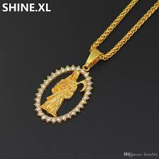 whole 18k gold plated chain skull grim reaper pendant necklace full iced out rhinestone rope chain pendant necklace delicate jewelry gift erfly