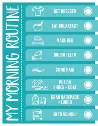 Handy Printable Morning Routine Checklist Morning Routine