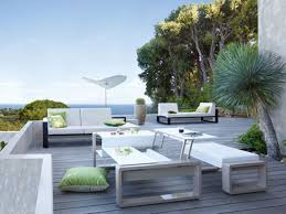 patio furniture white. Green Cushions Color And Impressive Scanery Plus White Modern Patio Furniture On Modular Floor O