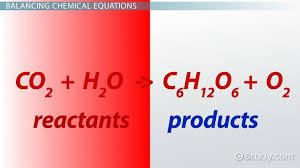 show a balanced chemical equation for