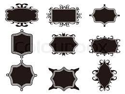 Set of black retro frame Stock Vector Colourbox