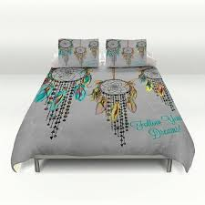 dream catcher bedding duvet cover set follow your by folkandfunky