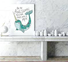 wall decor target australia nautical art for nursery beautiful c mint and gold best of narwhal bathroom t ar