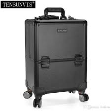 2019 tensunvis professional rolling makeup case cosmetic train box trolley black from dealen 281 43 dhgate