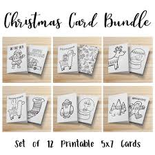 Any altering or distribution is not allowed without written permission first. Coloring Christmas Cards Diy Christmas Children S Etsy