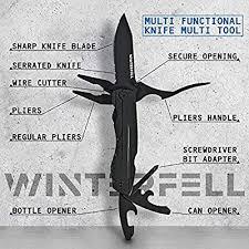 Winterfell Stainless Steel Multitool <b>Knife</b> - Durable 9 in 1 <b>Multi</b> Tool