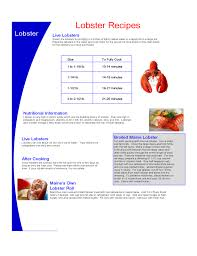 Lobster Cooking Chart Free Download