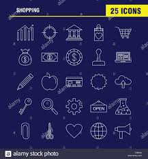 Shopping Line Icon For Web Print And Mobile Ux Ui Kit Such