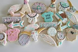 Dream Catcher Baby Shower Decorations Little Boho Child Baby Shower Cookies The Iced Sugar Cookie 90