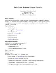 How To Write A Entry Level Resume Nardellidesign Com
