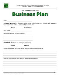 Business Plan One Page Business Plan Business Plan