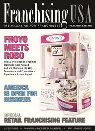 Frozen Yogurt Vending Machine Franchise Inspiration FROYO MEETS ROBO
