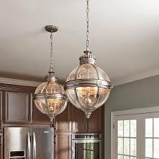 4 light globe lantern chandelier antique nickel for kitchen decor