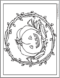 Download and print pumpkin coloring pages for kids! 72 Halloween Printable Coloring Pages Jack O Lanterns Spiders Bats