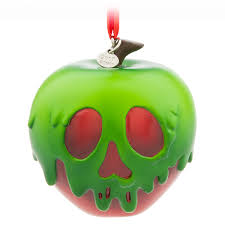 apple ornaments. poisoned apple sketchbook ornament - snow white and the seven dwarfs ornaments
