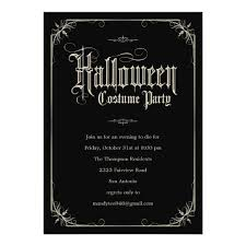 Vintage Formal Halloween Costume Party Invitations Zazzle Com