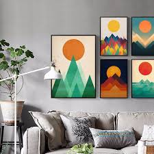 abstract sunrise sea prints picture canvas wall art painting bedroom home decor 0 on canvas wall art bedroom with phoenix abstract sunrise sea prints picture canvas wall art
