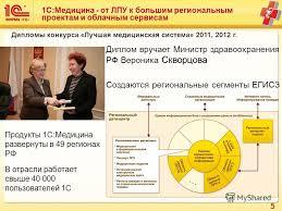 Презентация на тему РЕШЕНИЯ С МЕДИЦИНА Фирма С Обзор решений  5 5 1С Медицина
