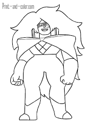Steven Universe Coloring Pages Print And Color Com Garnet For Page 9