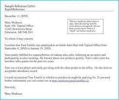 Sample Recommendation Letter For Employment Sample Recommendation
