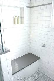 light gray grout photo of we chose shiny white subway tile with for bright
