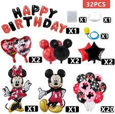 new sadie YOUNIiEN 32 <b>PCS Mickey</b> Minnie Mouse Birthday Party ...
