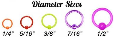 Lip Piercing Gauge Size Chart Find Your Fit A Sizing Guide For Captive Rings Bodycandy