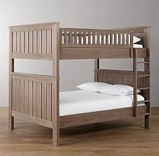 Shown in driftwood. Kenwood Full-over-Full Bunk Bed