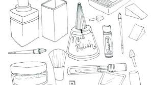 makeup coloring pages and book to print top model colouring color
