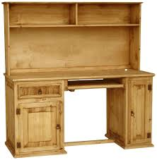 office desk with bookshelf. Home Office Simple And Chic Furniture Of Light Pine At Wooden Desk With Bookshelf E