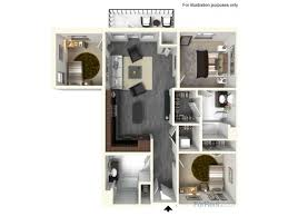 for the 3 bed 2 bath unit c3 floor plan