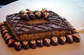Simple And Classy German Chocolate Grooms Cake With Yummy Tuxedo