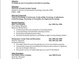 psychology resume examples entry level psychologist resume examples job school sample free