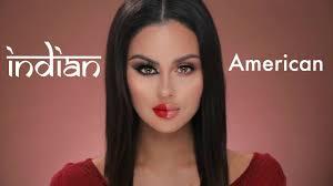 american vs indian makeup tutorial