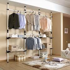 open closet bedroom ideas. Closets \u0026 Storages, : DIY Open Closet With Pipe Wire Shelving Design Ideas Bedroom
