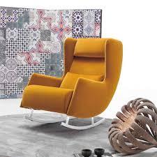bonobo modern wing back rocking chair