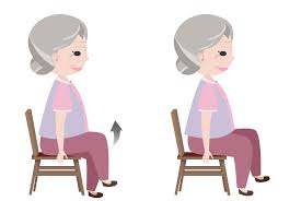 chair exercises for seniors. 2. seated march chair exercises for seniors