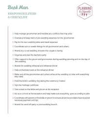 Printable Wedding Party Duties Checklist | mywedding
