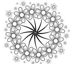 Kleurplaten Voor Volwassenen Bloemen