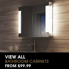 bathroom cabinets with lights. illuminated bathroom cabinets - shop for demister   light mirrors with lights t