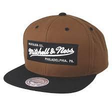 <b>Own</b> Brand Box Logo Tan/Black Snapback - <b>Mitchell & Ness</b> - Start ...