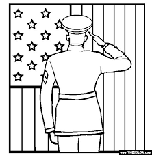 Independence Day Coloring Pages Printable Soldier Veterans Day