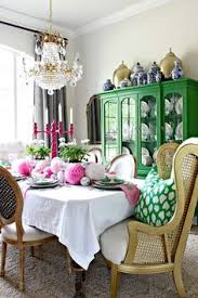 easter table spring tablescape colorful dining room dimples and tangles