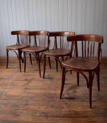 vine mid century bistro cafe kitchen chairs bentwood fischel thonet style x4