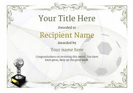 Football Certificate Template New Awardboxcertificatesblankcertificate Awards