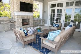 Outdoor Entertaining Area The Sunny Side Up Blog Restoration Hardware  Leagrave Furniture .