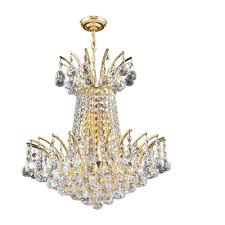 worldwide lighting empire collection 4 light polished gold with clear crystal chandelier
