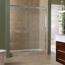 marina collection 3 8 frameless sliding shower doors from shower room decor with clear glass