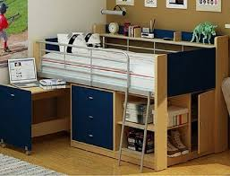 storage loft desk bed set children kids boys drawers guest furniture new